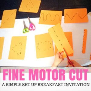 Fine Motor Cut! – A Super Popular Breakfast Invitation