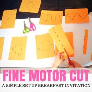 Fine Motor Cut! – A Super Popular Breakfast Invitation