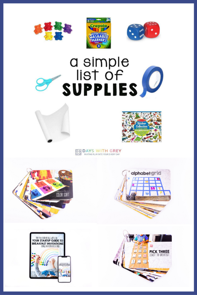 simple list of supplies