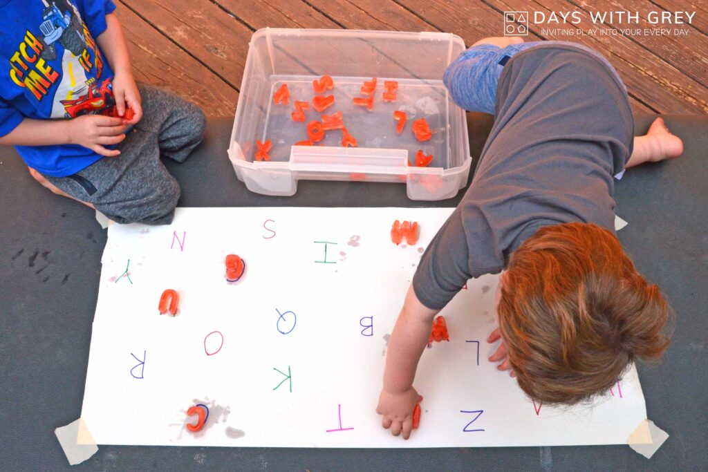 letter sensory play