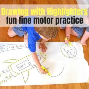 Fine Motor Highlighter Drawings
