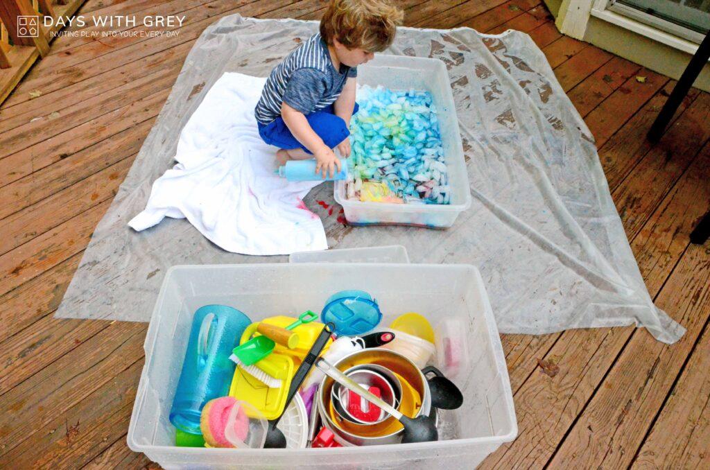 sensory painting activity