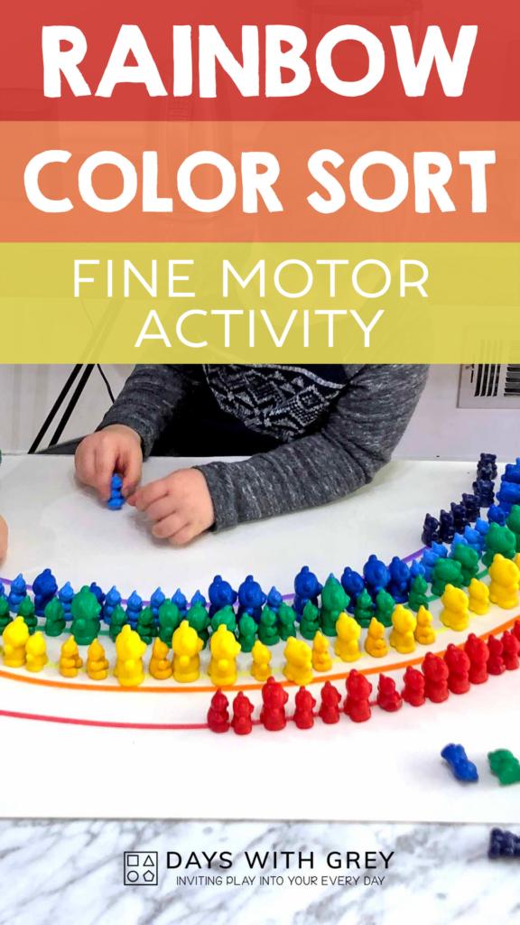 fine motor color activity