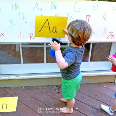 outdoor alphabet activity