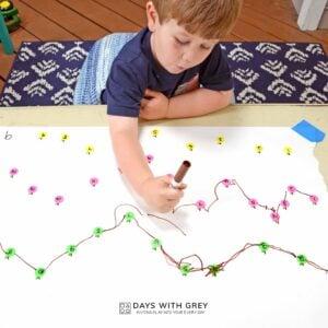 Apple Dot to Dot – Preschool Math Activity