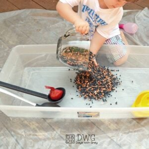 Fall Sensory Play Mix Up!