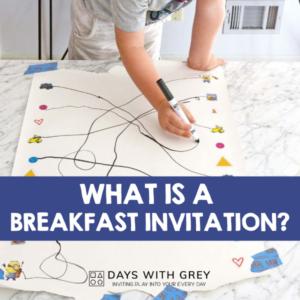 Breakfast Invitation; Preschool Hands-on Activities
