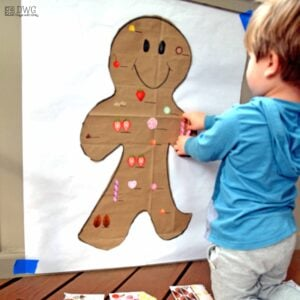 Gingerbread Man Holiday Sticker Match-Up