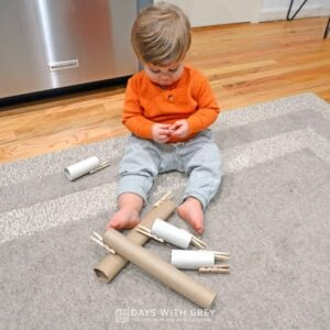 Toddler Fine Motor Clothespin Activity