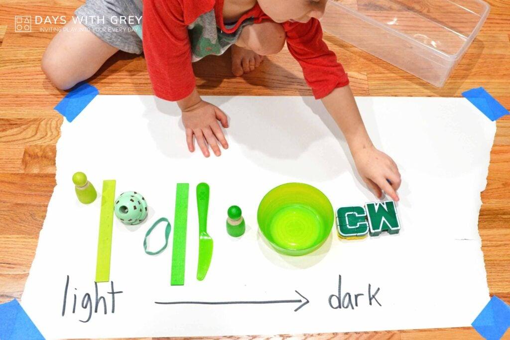 preschool indoor color activity