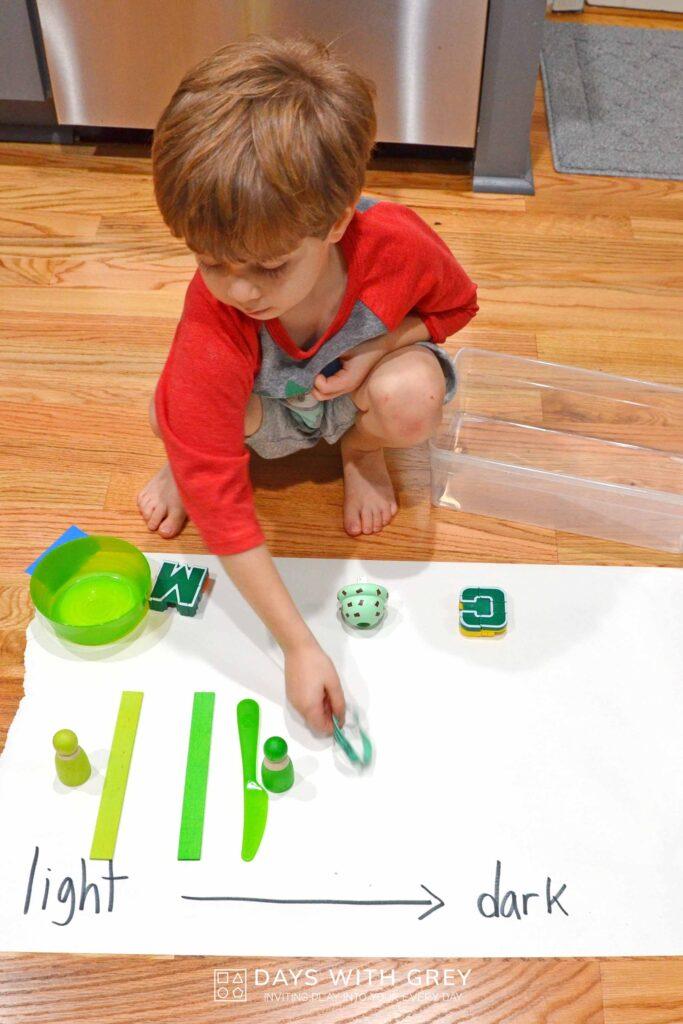 preschool indoor color game