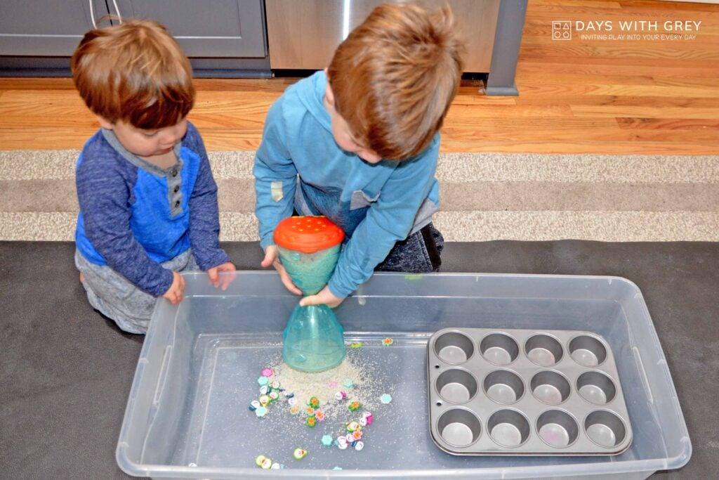 preschool sensory bin