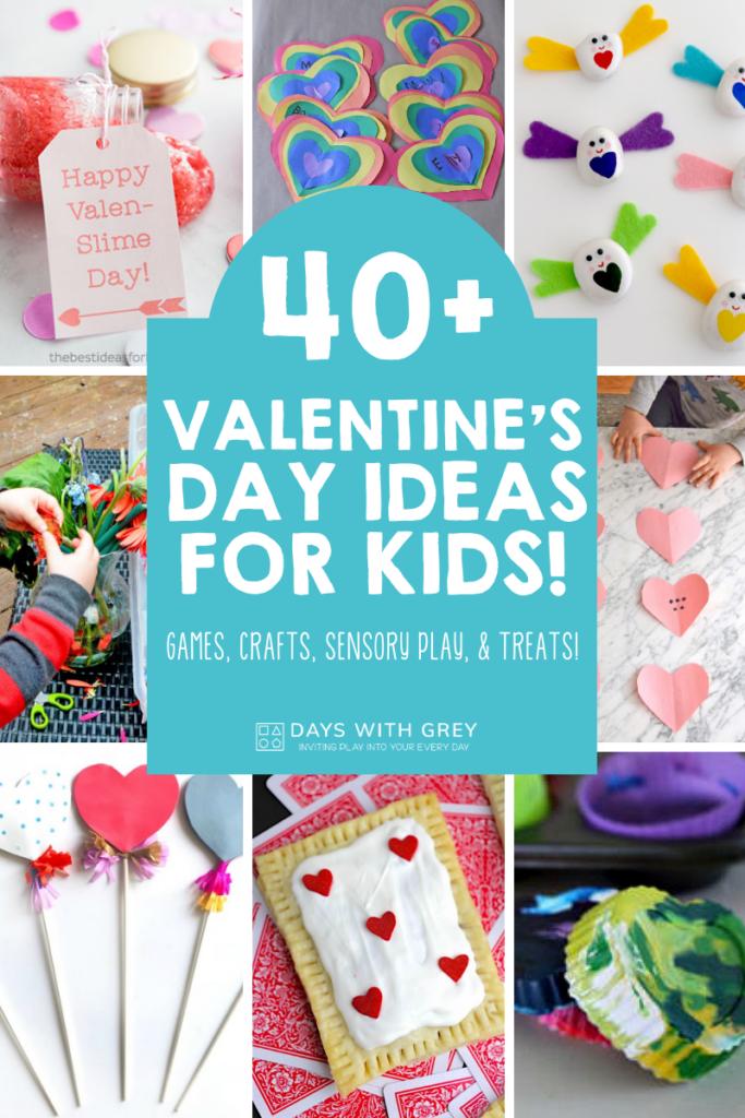 Valentine's crafts, games, treats for kids