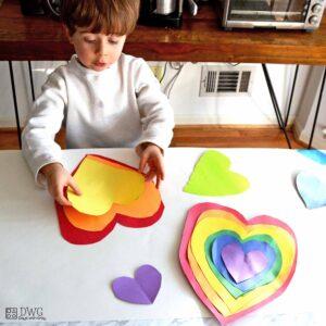 Rainbow Valentine Hearts
