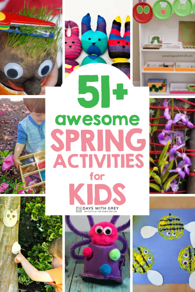 Outdoor and sensory activities for spring