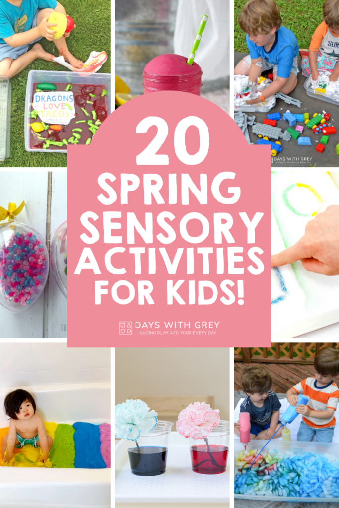 Spring sensory play activities