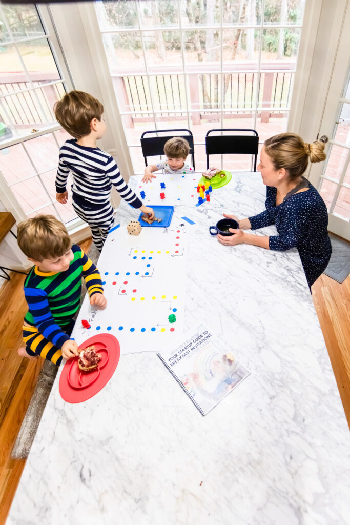 good morning routine with toddler and preschool