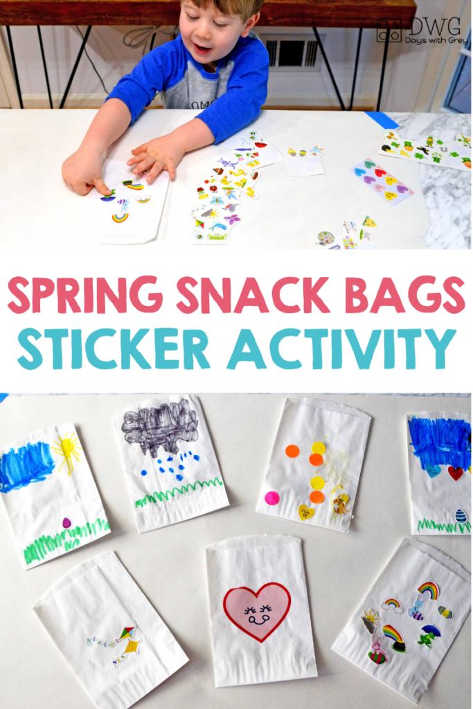 spring sticker activity