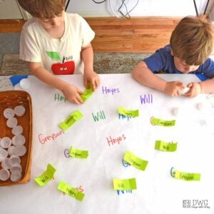 Crack a Name; an Indoor Easter Activity