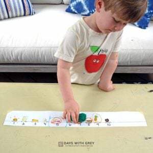 The Hungry Caterpillar Count Up