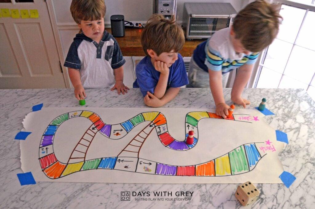 DIY rainbow boardgame