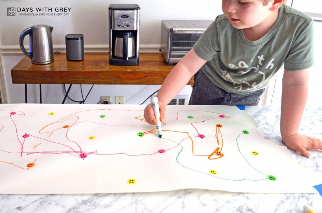 toddler pencil grip activity