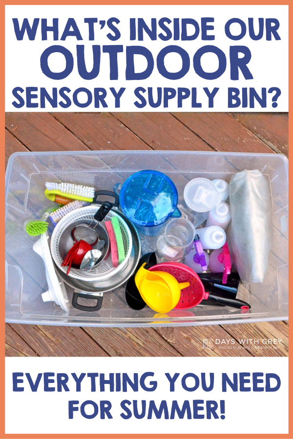supplies for outdoor sensory play