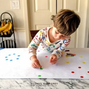Mystery Shapes; a Fine Motor Activity