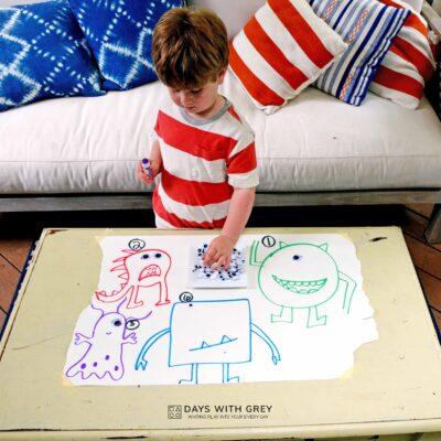 easy preschool math activity