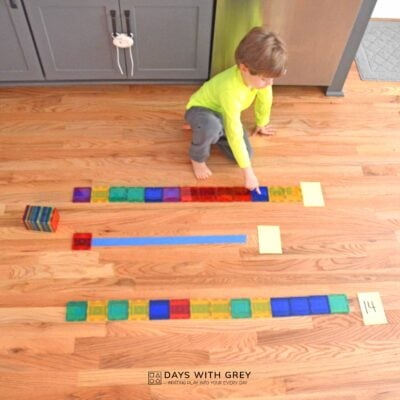 hands-on preschool math activity