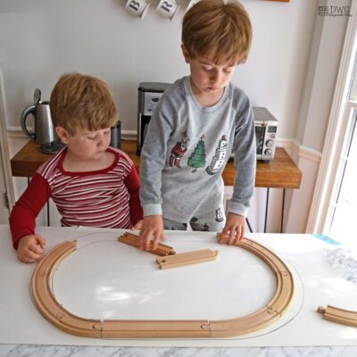wooden track activity for kids