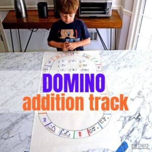 Domino Addition Track for Kindergarten