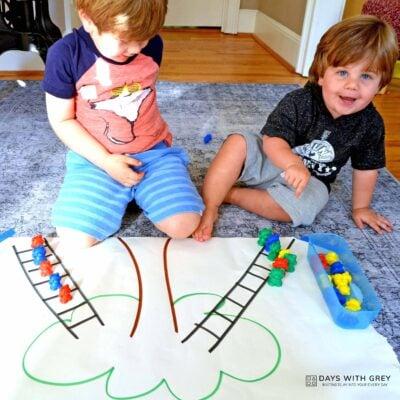 simple Preschool Prepositions activity