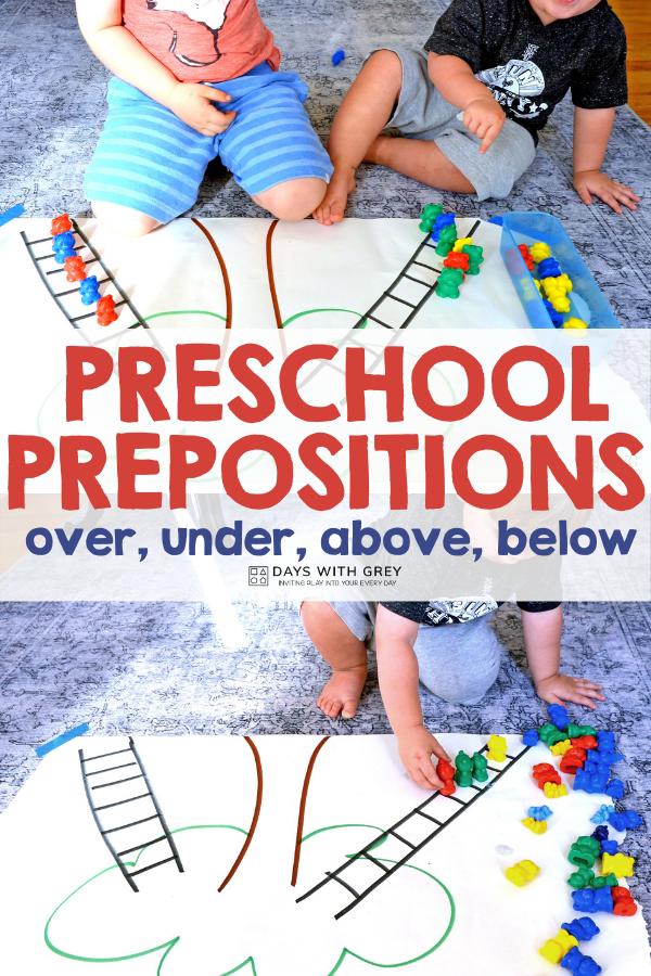 easy Preschool Prepositions activity