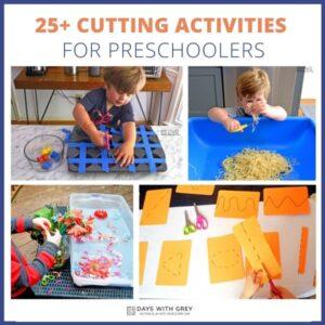 25+ Cutting Activities for Preschoolers