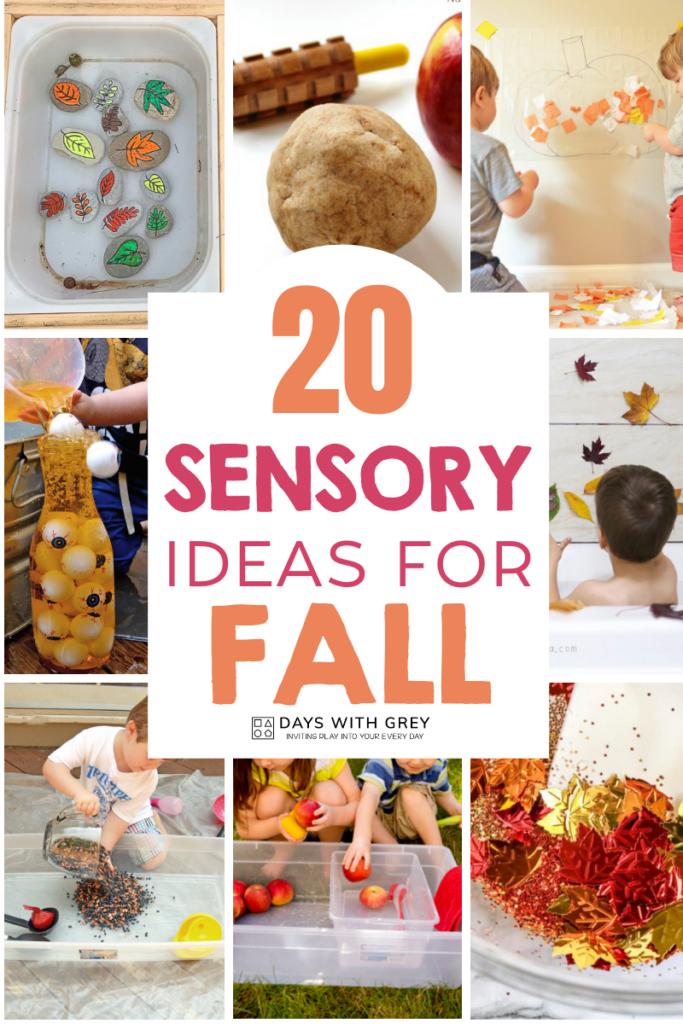 sensory play for fall