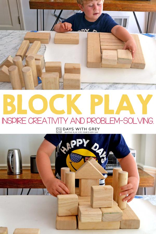 preschool block invitation to play