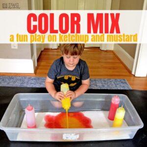 Sensory Table Color Mixing