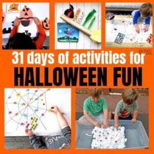 31 Days of Halloween Activities for Preschoolers