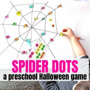 Spider Dots – The Best Preschool Halloween Game