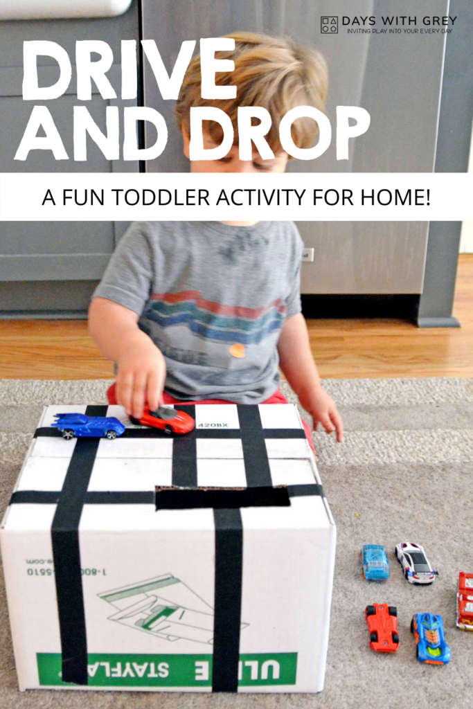 Toddler indoor activity with a box