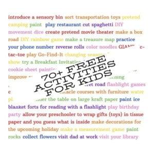 70+ Free Activities for Kids