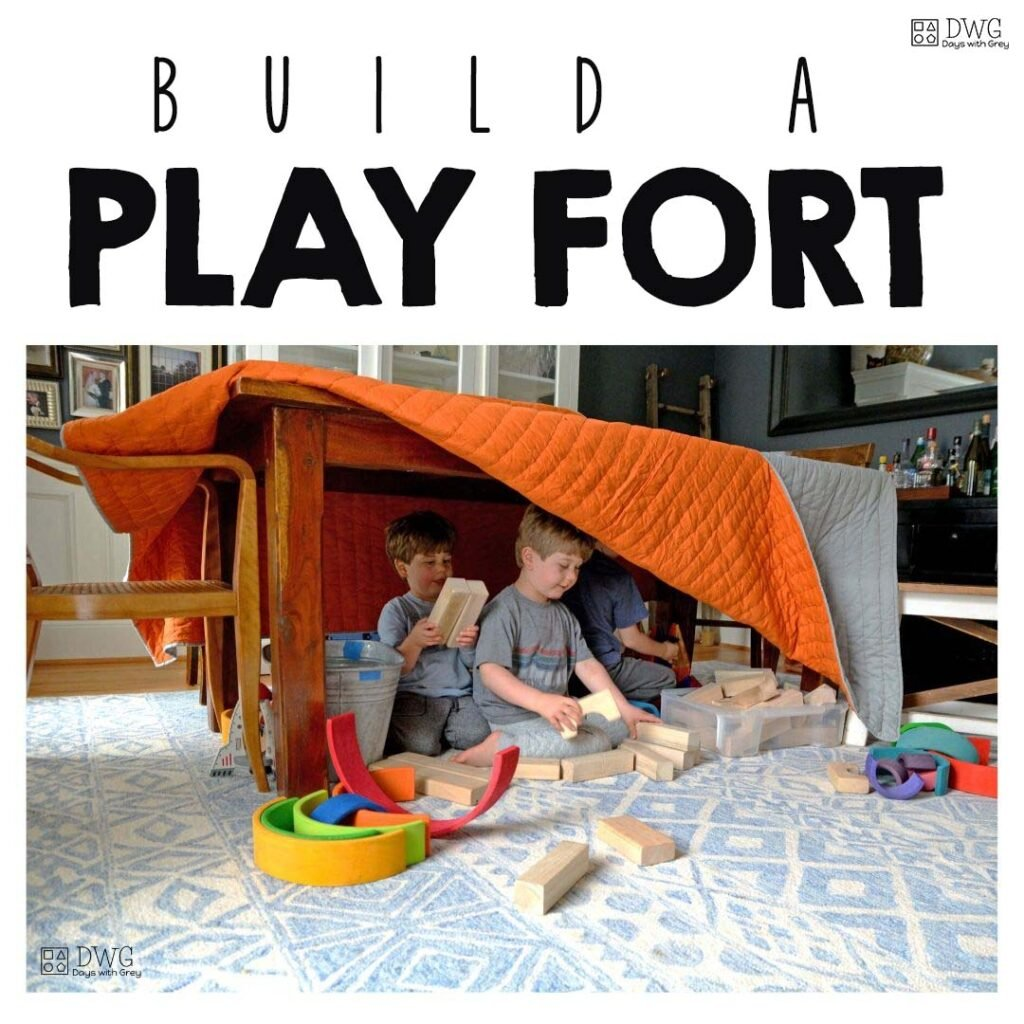 Build an Indoor fort with kids