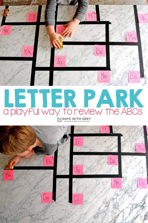 hands-on alphabet activity