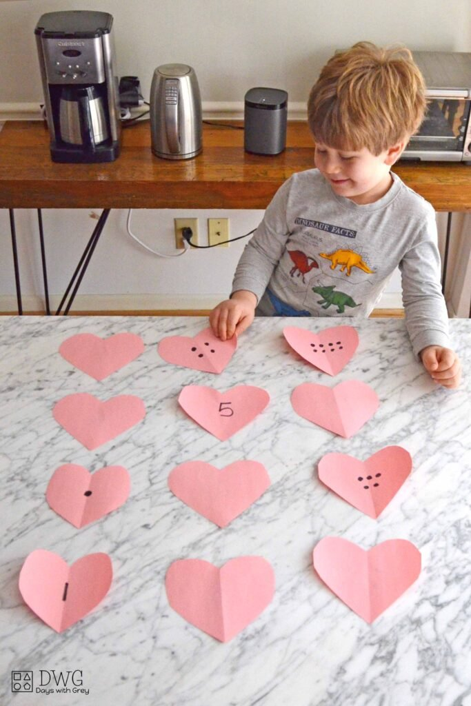 Valentine counting activity