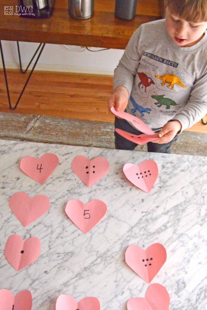 preschool valentine math activity