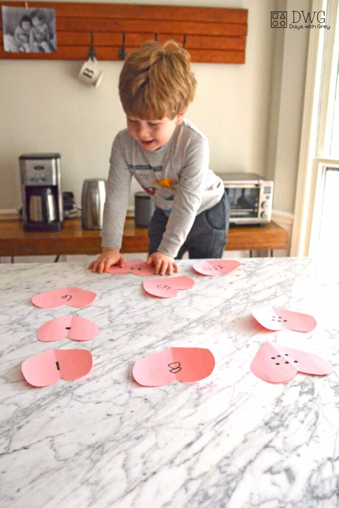 Valentine Math activity for preschool