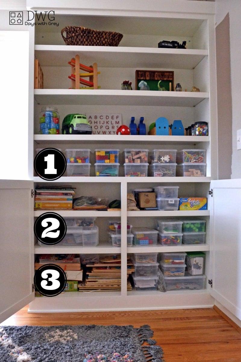 Playroom storage organization ideas for girls and boys, playroom ideas on a budget, playroom storage ideas for kids, easy ideas for toy storage #playroom #toystorage #playroomideas #play #kids #storageidea.jpg
