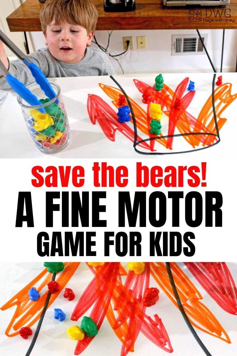 fine motor activities for preschoolers and toddlers, OT games, OT activities, pre k fine motor game, #preschool #prek #toddler #sahm #OT #preschooler #fouryearold #threeyearold.jpg