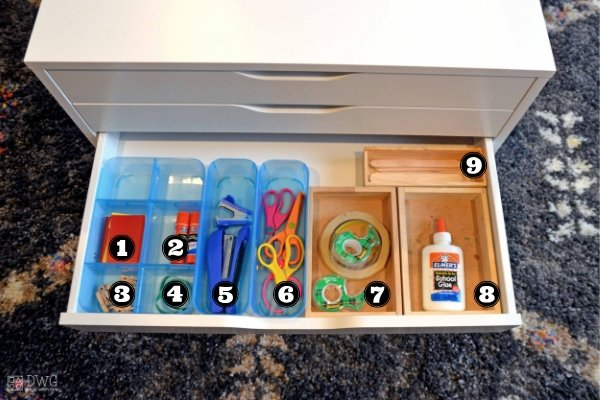 kids art supply organization art cart
